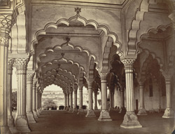 [Interior of the Diwan-i-Am, Fort, Agra.]
